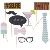 Accessoires Photobooth Baby Shower (x9)