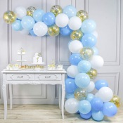 Arche de Ballon Organique Bleu & Or (x60)