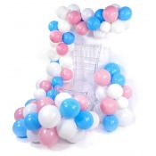 Arche de Ballon Organique Rose & Bleu Pastel  (x60)