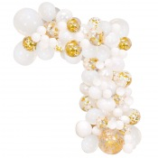 Arche de Ballons Organique Blanc & Or