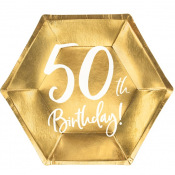 Assiettes Anniversaire 50 ans (x6)