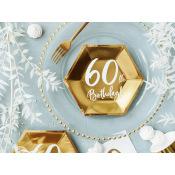 Assiettes Anniversaire 60 ans (x6)