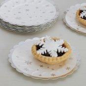 Assiettes canapés en carton Flocon de Neige (x8)