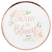 Assiettes carton floral Baby in Bloom (x4)