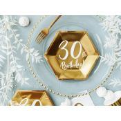 Assiettes cartons Anniversaire 30 ans (x6)