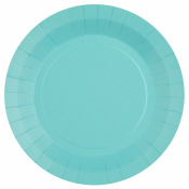 Assiettes en carton Bleu Pastel (x6)