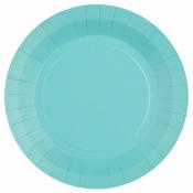 Assiettes en carton Bleu Poudré (x10)