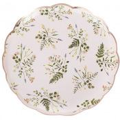 Assiettes en carton Botanique Rose Gold (x8)