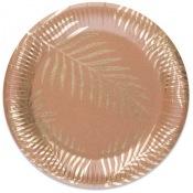 Assiettes en carton Feuillage Tropical Chic (x4)