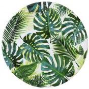Assiettes en carton Feuillage Vert Tropical (x8)