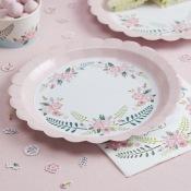 Assiettes en carton Fleur Bohème (x8)