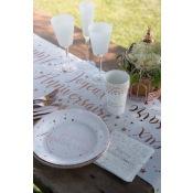 Assiettes en carton Joyeux Anniversaire Rose Gold (x10)