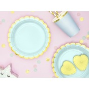 Assiettes en carton Mint & Or (x6)