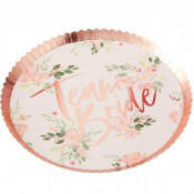 Assiettes en carton Team Bride Floral (x4)