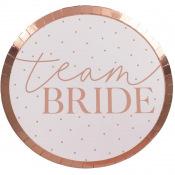 Assiettes en carton Team Bride Rose Gold (x4)