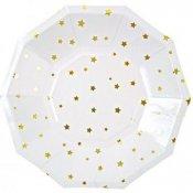 Assiettes en carton étoiles or (x4)
