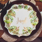Assiettes en carton Tropical Jungle (x4)