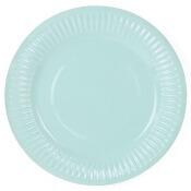 Assiettes en carton Vert d'eau (x6)