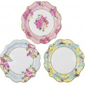 Assiettes en carton Vintage 3 Designs (x6)