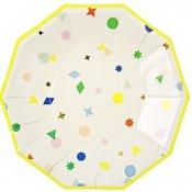 Assiettes Hexagonales Motifs Géométriques (x8)