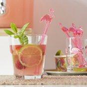 Bâtonnets mélangeur à boisson Flamant Rose (x15)