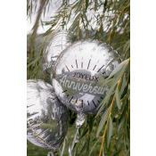 Ballon Aluminium Joyeux Anniversaire Argent