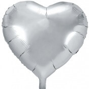 Ballon Coeur Mylar Aluminium Argent