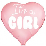 Ballon Coeur Mylar Aluminium It's a Girl