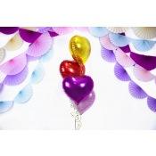 Ballon Coeur Mylar Aluminium Or