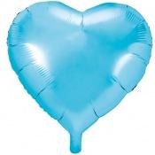 Ballon Coeur mylar Bleu Pastel