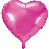 Ballon Coeur Mylar Rose Fuchsia