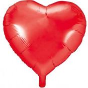 Ballon Coeur mylar rouge grenat