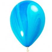 Ballon de baudruche latex Marbre Bleu