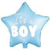 Ballon Etoile Mylar Aluminium  It's a Boy