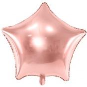 Ballon Etoile Mylar Aluminium Rose Gold
