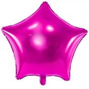 Ballon Etoile mylar Rose Fuchsia