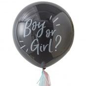 Ballon Géant Confettis Baby Shower Boy or Girl ?