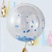 Ballon Géant Confettis Bleu