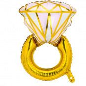 Ballon Mylar Aluminium Bague Diamant