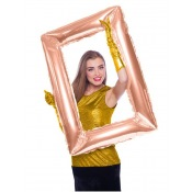 Ballon Mylar Aluminium Cadre Photobooth Rose Gold