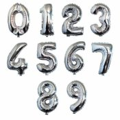 Ballon Mylar Aluminium Chiffre Argent 86 cm - A CHOSIR (VENDU A L'UNITE)