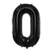 Ballon Mylar Aluminium Chiffre Noir Anniversaire 86 cm