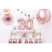 Ballon Mylar Aluminium Chiffre Rose Gold 36 cm (Mini)