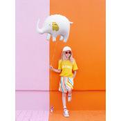 Ballon Mylar Aluminium Elephant, 61x46cm