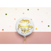 Ballon Mylar Aluminium Happy Birthday to You  35 cm