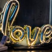 Ballon Mylar Aluminium LOVE Or