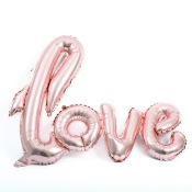 Ballon Mylar Aluminium LOVE Rose Gold