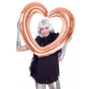 Ballon Mylar Cadre Coeur Photobooth Rose Gold
