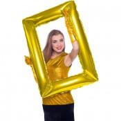 Ballon Mylar Cadre Photobooth Doré