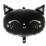 Ballon Mylar Chat Rose & Or